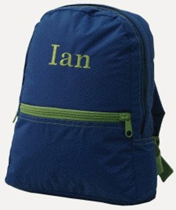 Personalized Grassy Green and Blue Toddler Backpack