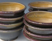 Noodle Bowls - Made to Order - Copper Red Honey Yellow Black - Set of 4