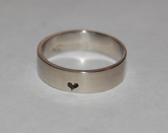 Promise Ring, Little, little bit of Heart Sterling Silver Ring, Commitment band, Anniversary ring