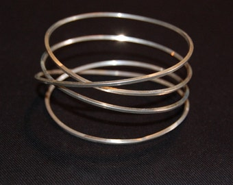 Sterling SIlver Dangling Bangles