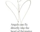 8 x 10 Angel Print With Mat