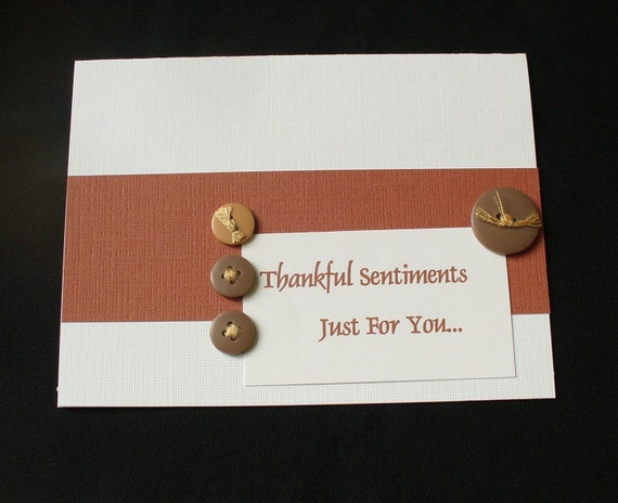 Thankful Sentiments - Thank You Note Card