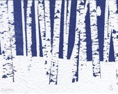 BIRCHES - One Limited Edition Print from the SNOW IS IN THE AIR collection