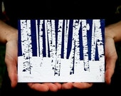 SNOW IS IN THE AIR - Set of 3 Limited Edition Letterpress  Art Prints