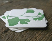 Ginkgo: Letterpress Coasters (set of 10)