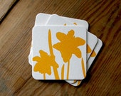 Daffodil: Letterpress Coasters (set of 10)