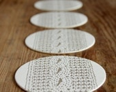 Cable Knit in Silver Grey: Letterpress Coasters (set of 10)