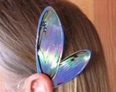 Fairy Ear Wings in Blue Cicada