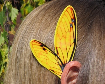 Gold Flash Cicada Fairy Ear Wings