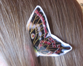 Red Black and Gold Butterfly Ear Wings