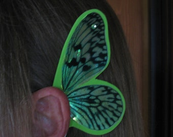 Butterfly Fairy Ear Wings - St. Patrick's Lime Green