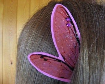Fairy Ear Wings Cicada Pink