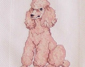Kitchen Towel,Cross Stitch,Poodle,Item500
