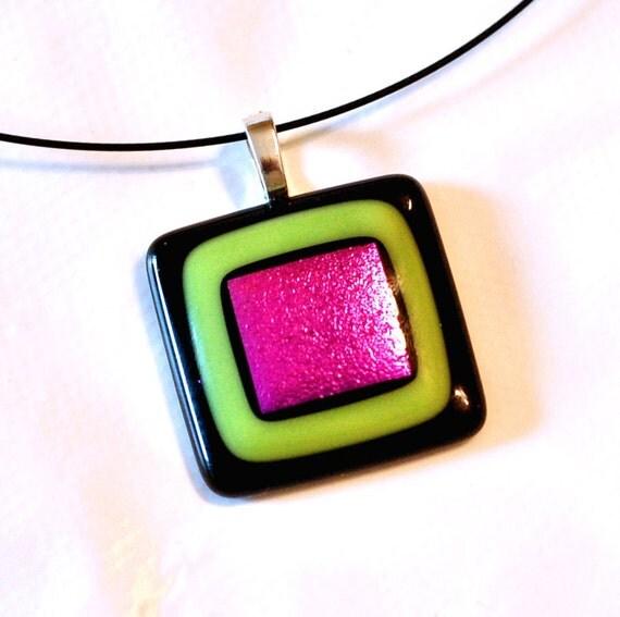 Neon - Fused Glass Pendant