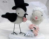 Custom Order Love Birds wedding cake topper