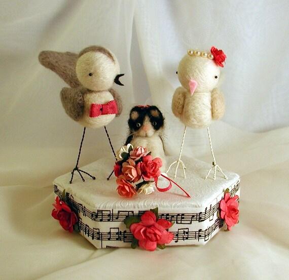 Custom Order Wedding bird cake topper