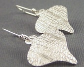 Ornamental  Fine Silver Earrings