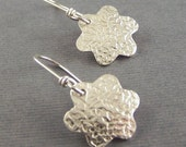 Flowery Fine Silver Earrings