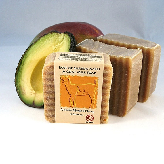 Avacado, Mango and Honey Goat Milk Soap