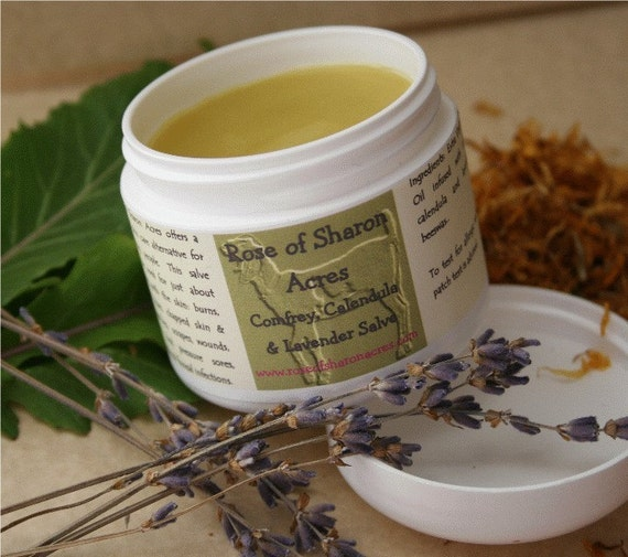 Comfrey, Lavender, Calendula Salve from Rose of Sharon Acres