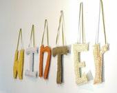 "Handmade Hanging Letters 10"""