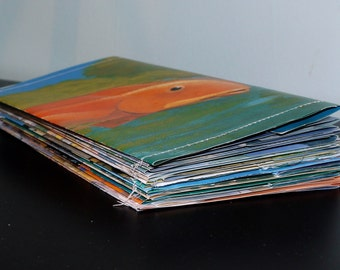 Recycled Envelopes. Set of 20. Made from Old Children's Books.