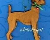 Irish Terrier Christmas Ornament, Handpainted