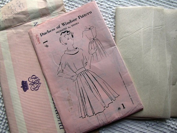 1959 Duchess of Windsor Dress Pattern by Spadea