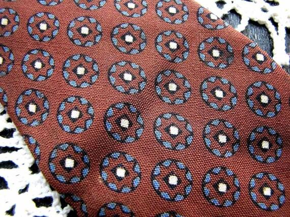 SALE Vintage NECKTIE, Wool Hand Tailored, Botany Brown, 1950s