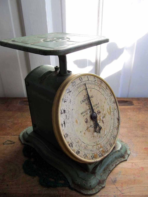Universal household scale country rustic kitchen shabby for Rustic kitchen scale