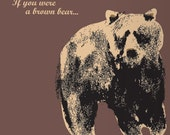 If you were a brown bear... card