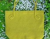 fiddlehead fern crochet tote pattern