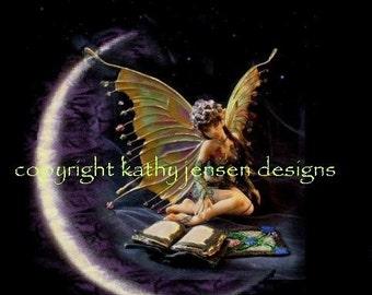 Wickenden Moon Fairy Art Print Matted