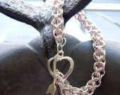 Reserved for Kathy - Crystal Filled Chain Maille Bracelet