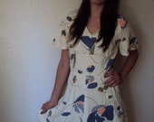 Vintgae 70s Pixie Mini Flutter Dress