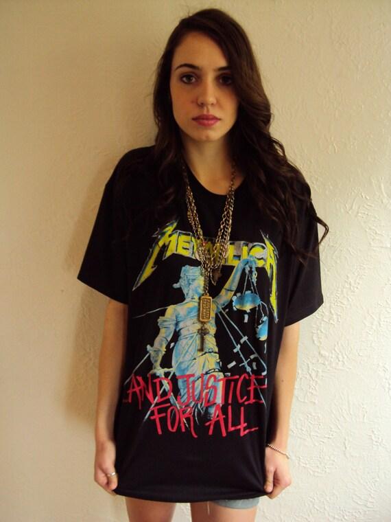 Vintage metallica rock concert black t shirt by modernhex on etsy