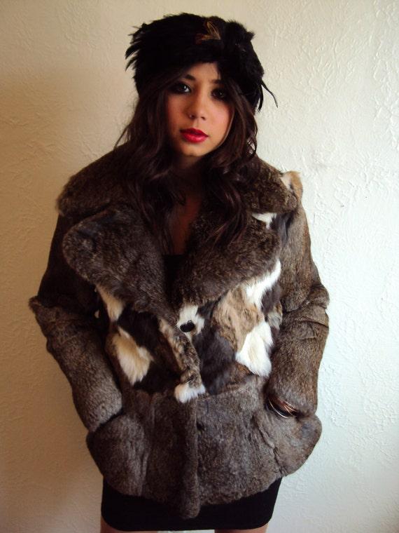 Vintage 50s Black Mink Fur Feather Cowl Headband