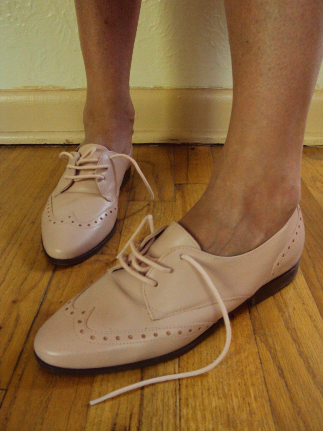 vintage pretty in pink oxford brogues shoes