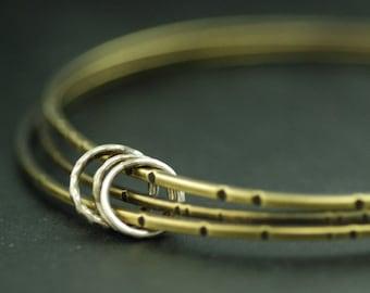 Orbit Bangles - Brass