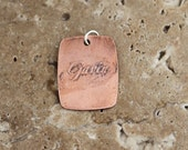 RESERVED FOR NICOLE - etched copper pendant