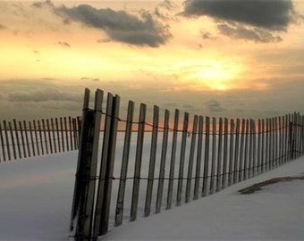 Fire Island Snow Fence 8x10 Signed by Scott Rhodes