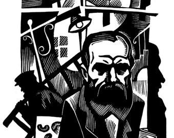 DOSTOEVSKY portrait of Russian writer