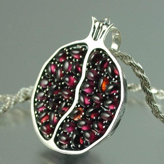 JUICY POMEGRANATE silver garnet pendant