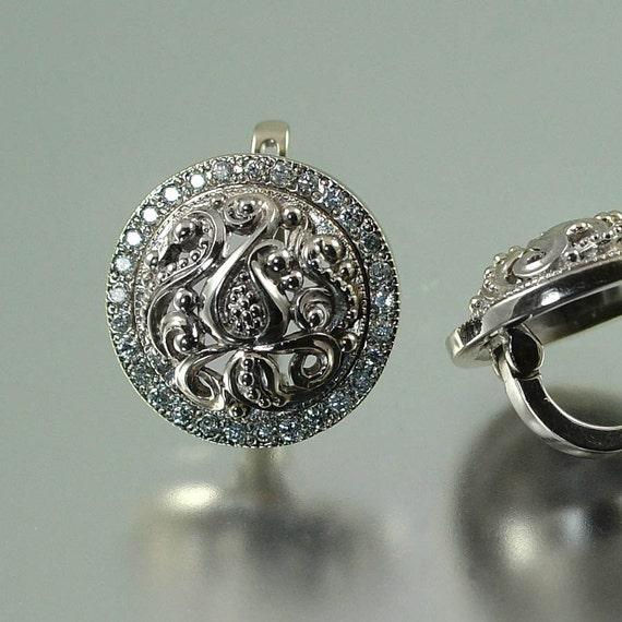 OLGA 14K white gold 0.7ct Diamond earrings - ready to ship