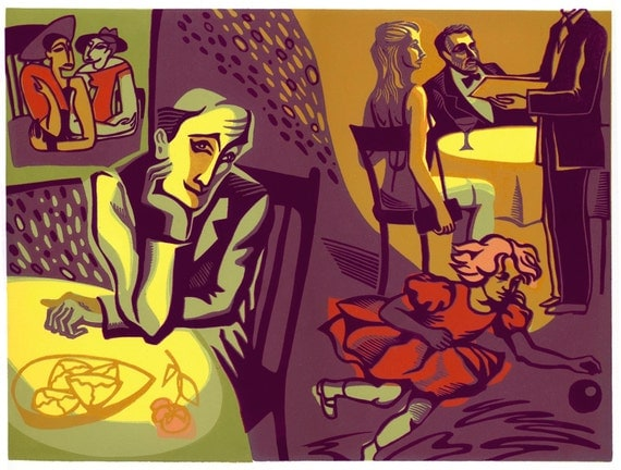 THE FEAST of LIFE linocut