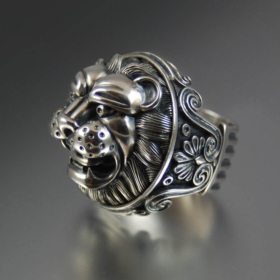Lion's Head Silver Ring. One Wedding Rings. Thumb Rings. Formal Rings. Different Style Rings. Lotus Rings. Rough Gemstone Wedding Rings. 1 Carat Engagement Rings. Small Band Big Diamond Wedding Rings