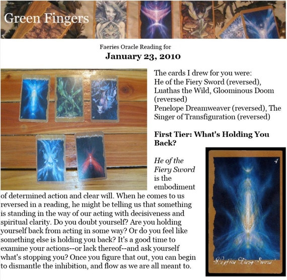 Love and Relationships Intuitive Faeries' Oracle Reading