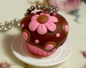 BUY1GET1 - FREE SHIPPING - Cupcake Delight Pendant - Chocolate Strawberry
