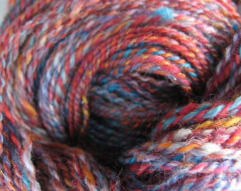 Fire and Ice - hand dyed, handspun yarn