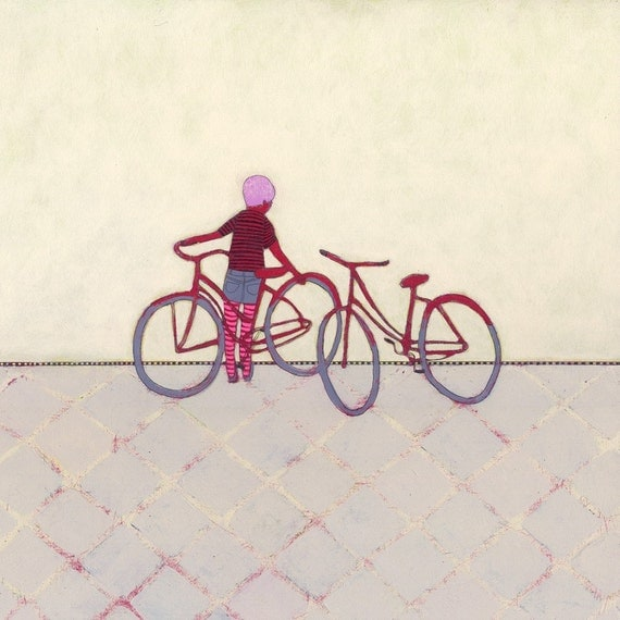 limited edition art print - Bike Ride